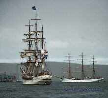 Europa inside the Sound of Bressay by NordicBlackbird
