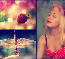 Strawberries and Dragonflies... by Carol Knudsen