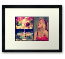 Strawberries and Dragonflies... Framed Print