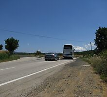The trafic in country road. by rasim1