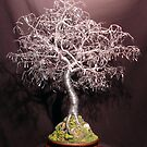 Bonsai with Hammered Leaves, Wire Tree Sculpture   by Sal Villano