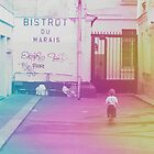 Little boy in the Marais by Amy Lewis
