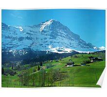 Refreshing Swiss Alps Poster