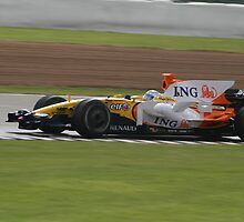 Fernando Alonso - Renault R28 - Silverstone 2008  by MSport-Images