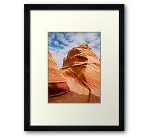 Sandstone Swirl in the Coyote Buttes Framed Print
