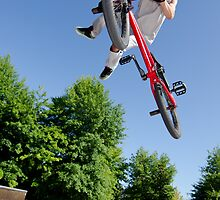 BMX Bike Stunt tail whip by homydesign