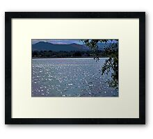 Light on the Water Mosaic Framed Print