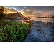 Curved Sunset Photographic Print