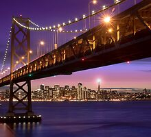 The SF Bay Bridge at Twilight by MattGranz