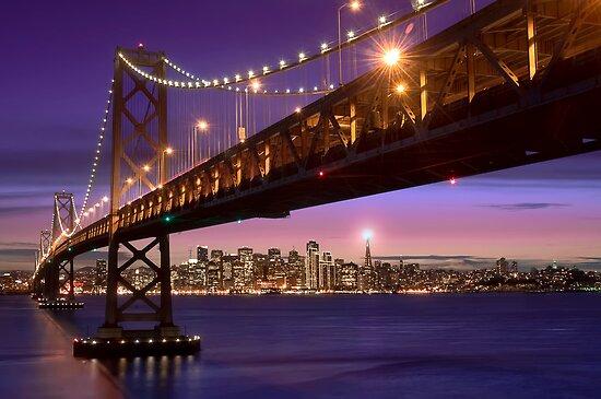 The SF Bay Bridge at Twilight by MattGranz