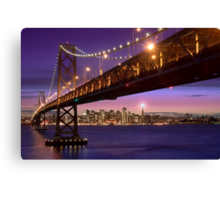 The SF Bay Bridge at Twilight Canvas Print