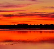 Winter Sunset. 30-7-11. by Warren  Patten
