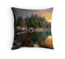 Just A Touch Of Light ~Trail Bridge Reservoir ~ Throw Pillow