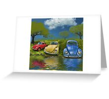 Bugs on  a Hill Greeting Card