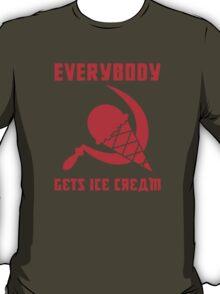 Everybody Gets Ice Cream - Red T-Shirt