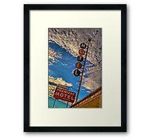 Premiere Motel on Route 66 Framed Print