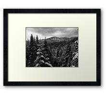 Snow In The Cascades ~ Oregon High Casacades ~ Framed Print