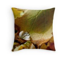 leaf with brown edges Throw Pillow