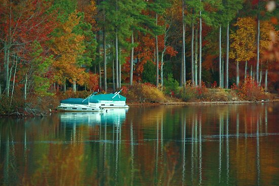 swiftcreek reservoir at fall by ANNABEL   S. ALENTON