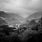 Rainy Auvergne (B&W) by Laurent Aphecetche