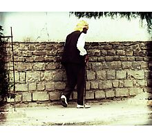 Old Man Walking Photographic Print