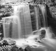 Black and white waterfall by slkphotography