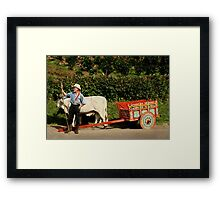 Pose for Coffee Framed Print