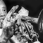 Portrait of Louie Armstrong by Carrie Jackson