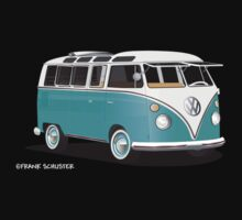 VW Bus T2 Teal White by Frank Schuster