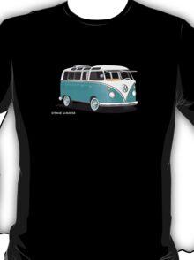 VW Bus T2 Teal White T-Shirt
