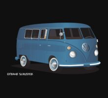 VW Bus T2 Transporter Blue Wht by Frank Schuster