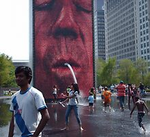 The Crown Fountain @ Millennium Park Chicago by SanJanPhotos