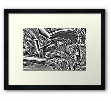 Men and Their Toys _ Black and White Version Framed Print