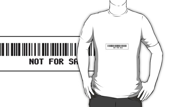 'Not For Sale' Barcode by CalumCJL
