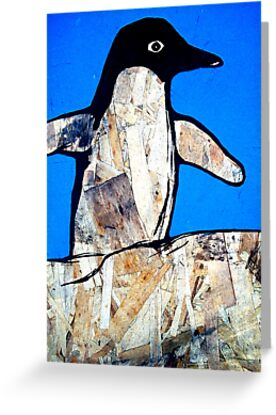 wings out penguin (with blue) by starheadboy