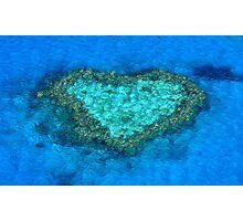 Heart Reef Photographic Print