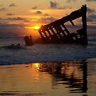 Wreck of The Peter Iredale - 1906 by Sheri Bawtinheimer