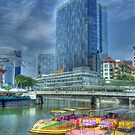 Singapore River by David  Barker