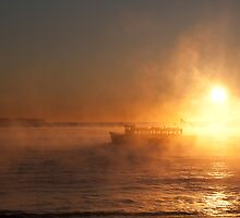 Ferry in the mist by National Park Photography