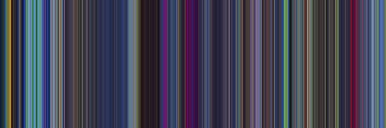 Moviebarcode: The Last Unicorn (1982) [Simplified Colors] by moviebarcode