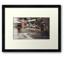 The Man Under The Umbrella - Sydney - Australia Framed Print