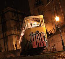Gloria Funicular, Lisbon Portugal by stjc