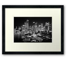The City of Sydney at night Framed Print