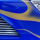 Street Rod Art: Blue, Gold & Chrome by Karen K Smith