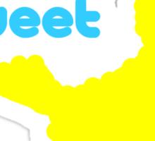 Sesame Tweet - Blue Text Sticker