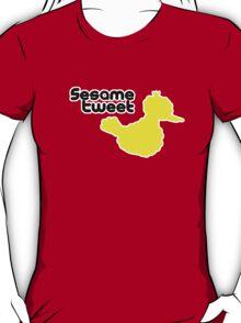 Sesame Tweet - Black Text T-Shirt
