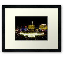 View from Bellagio, Las Vegas Framed Print