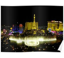 View from Bellagio, Las Vegas Poster