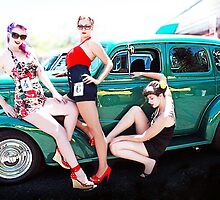 Hot Rod Girls 2 - Jenny, Lee, Lilly, and Angie Nightmare by Bumzigana