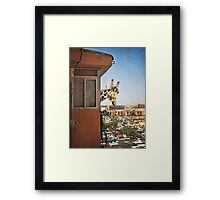 Hello, nice to meet you! I am your new neighbor Framed Print